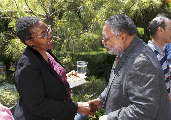 Lonnie Bunch and unidentified woman