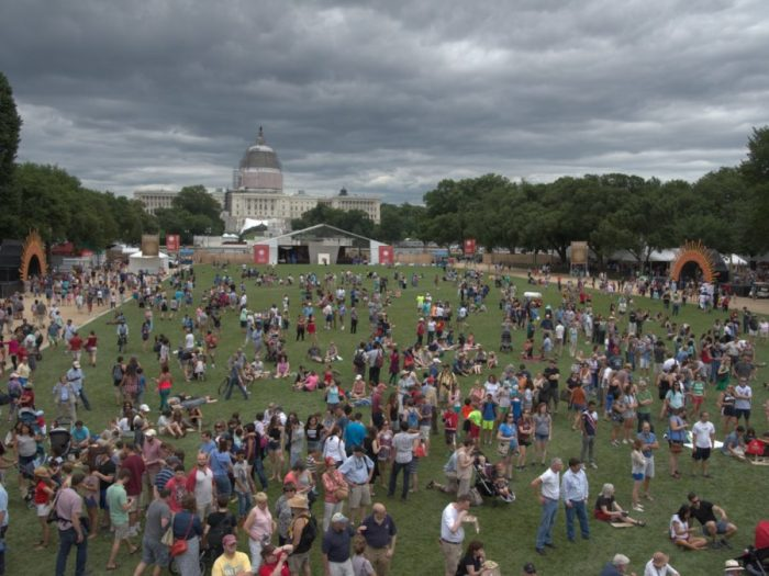 Crowds on the National Mall