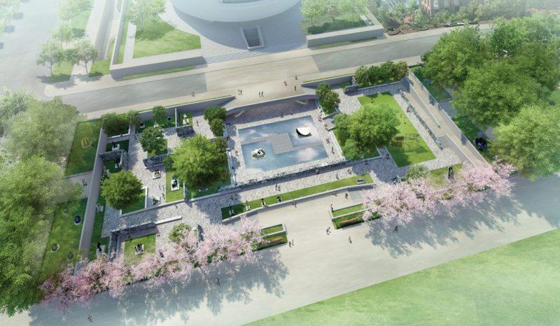 Artists rendering of Sculpture Garden design