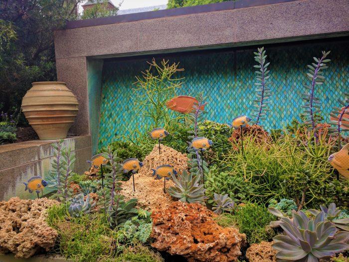 sculpture depicting a coral reef