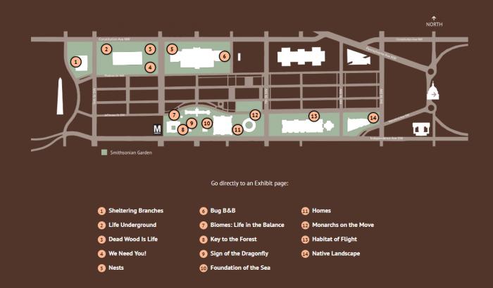 Map of Habitat exhibits