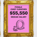 Graphic showing museum salaries