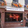 Man stands in front of the Stonewall Inn