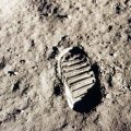 NASA photo of footstep on the moon