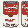 Composite of Campbell's soup cans
