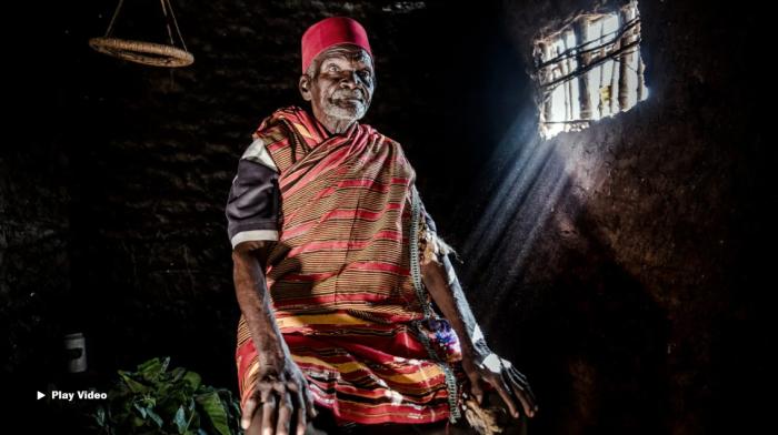 Photo of Kenyan elder in native clothing