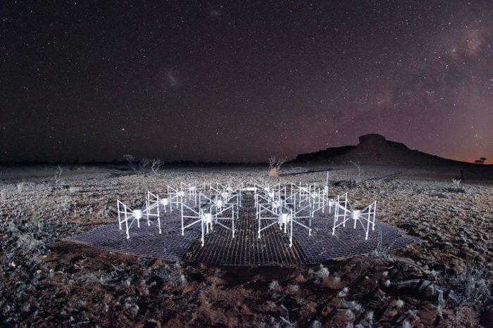 Night view of telescope array