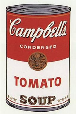 Silkscreened Campbell's tomato soup can