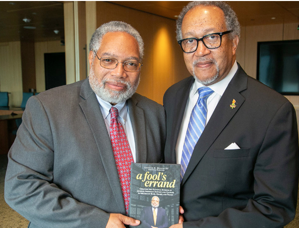 Bunch and Chavis with Bunch's book