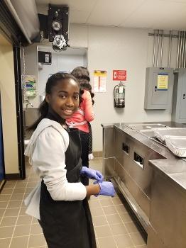 Child in test kitchen