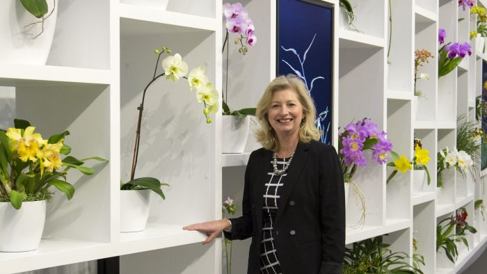 Faust among orchids in 2017 exhibition.