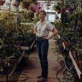 Barbara Faust in Greenhouse in 1983