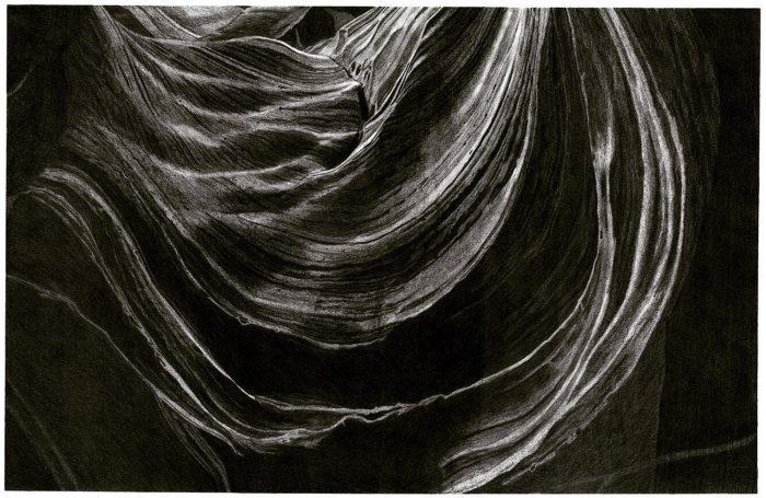 Swirling canyon strata