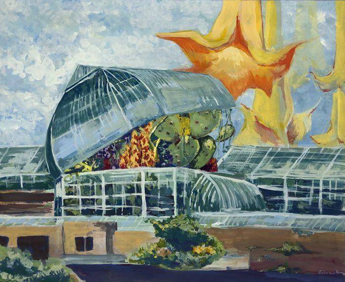 Greenhouse bursting open