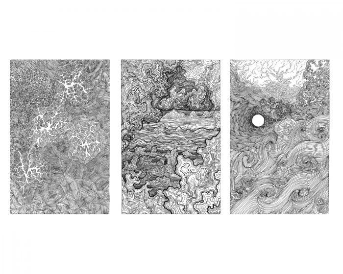 intricate ink drawings