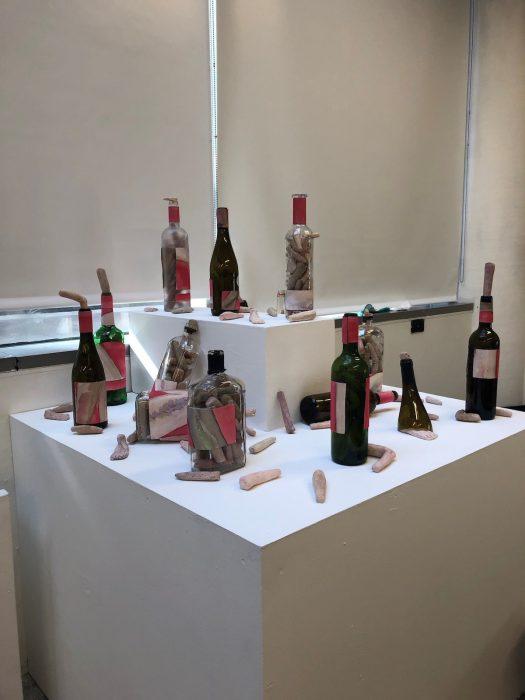 installation of wine bottles
