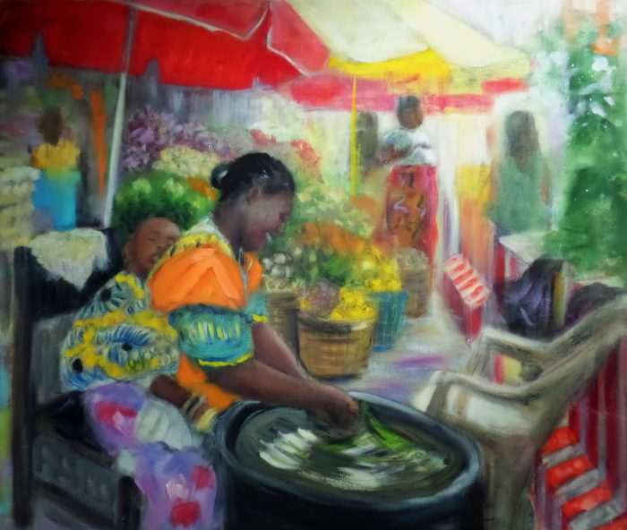 paintingof African woman