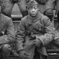 Detail from photo of black soldiers