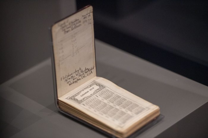 Soldier's diary on display