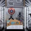 exhibition case for Superheroes