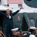 Richard Nixon boarding helicopter