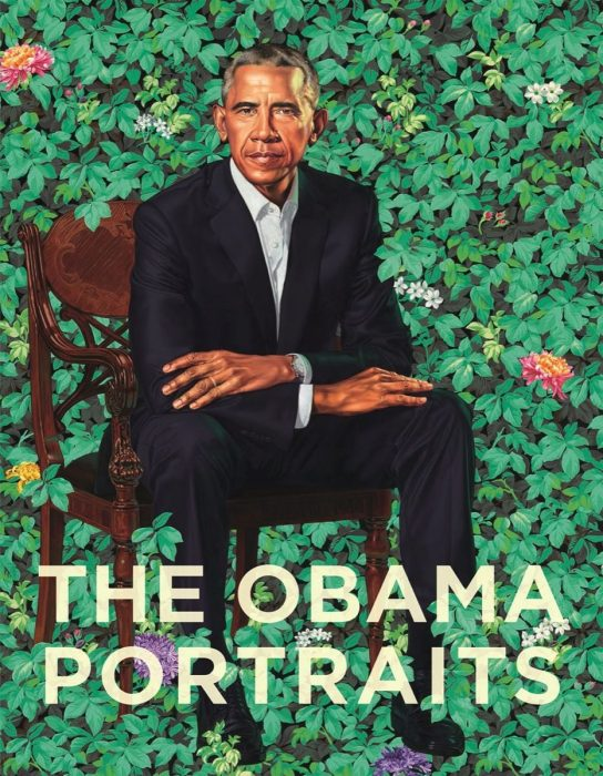 portrait with superimposed title