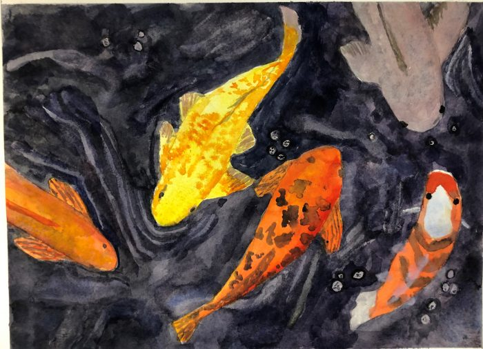 Watercolor of fish