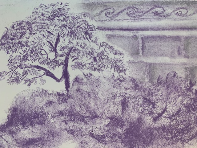 Pastel drawing of Garden