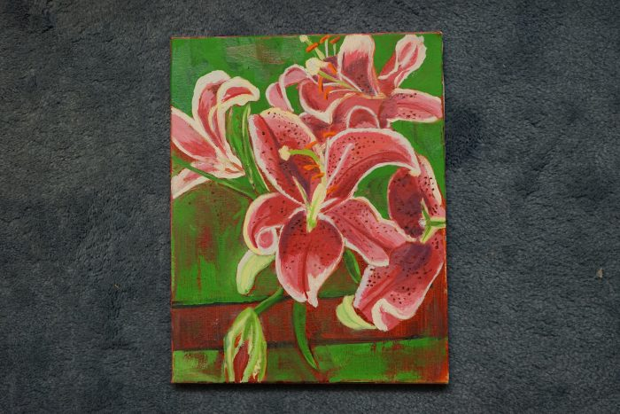 Painting of lillies