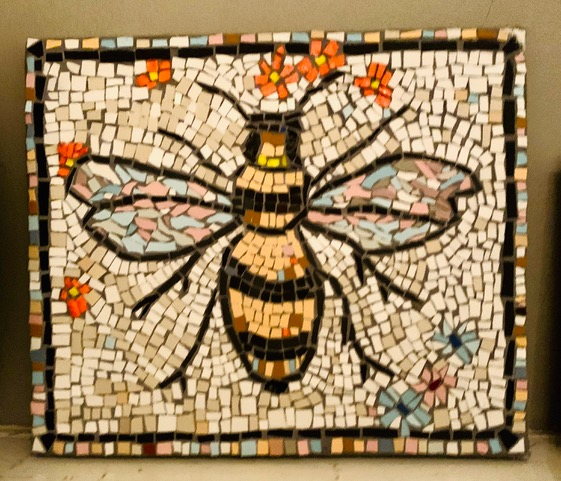 mosaic tile of bee