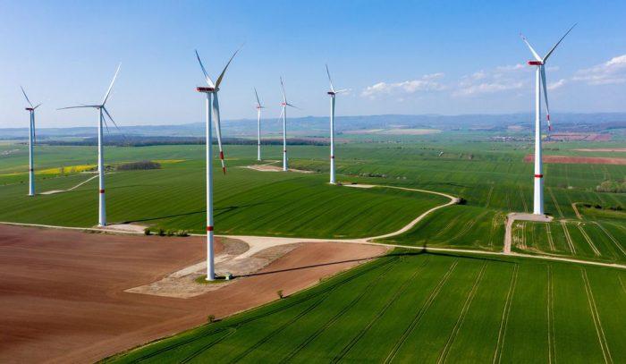 Field of modern windmills