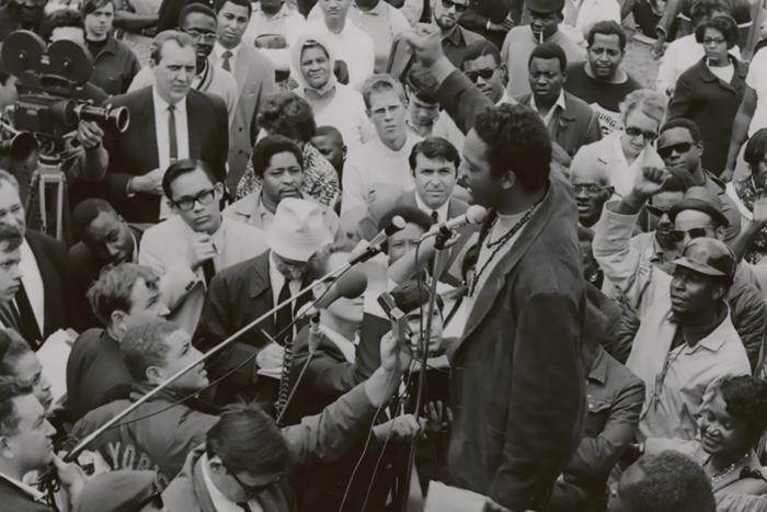 Jesse Jackson at Resurrection City in 1968