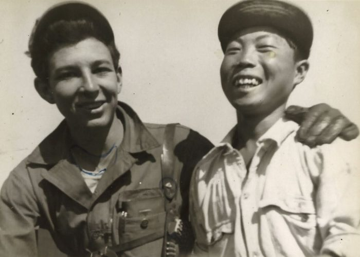 Campbell with South Korean man