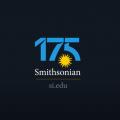 Screenshot showing Smiothsonian at 175 logo on black background