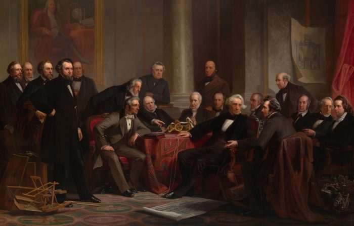 painting of 19 significant men of the 19th century