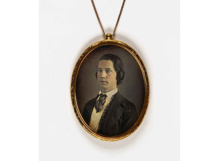 Large pendant with photo of young man