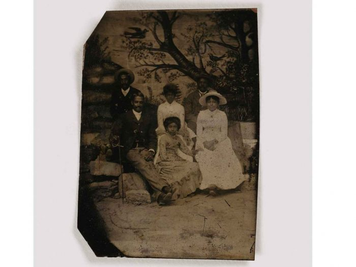 Studio portrait of African American family